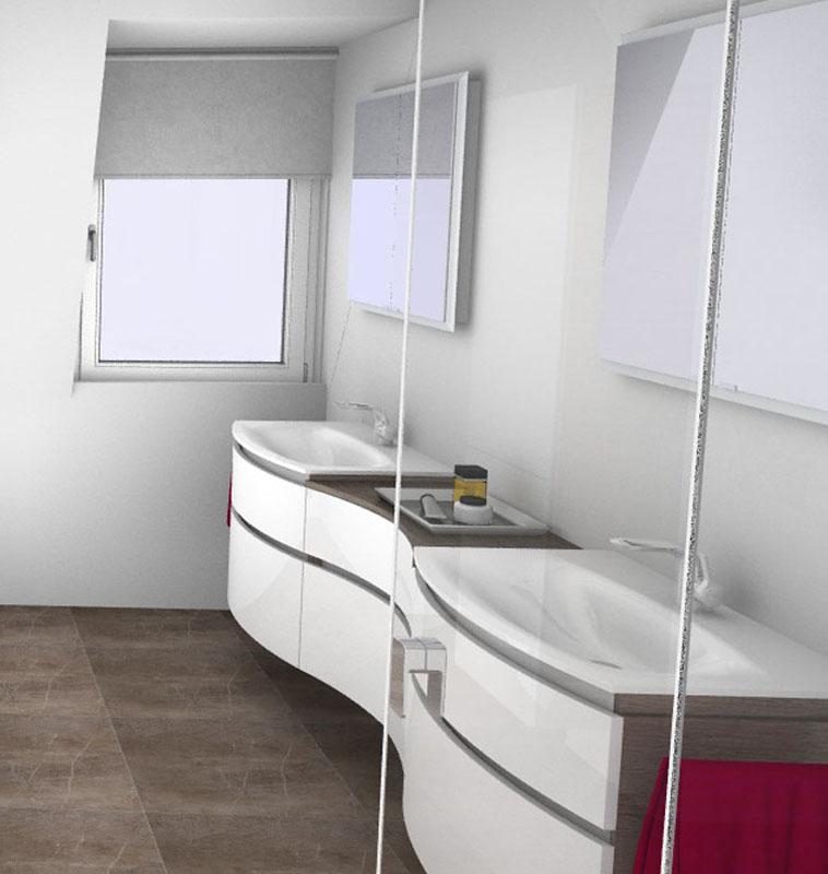 Gestaltung zweier Waschbecken nebeneinander